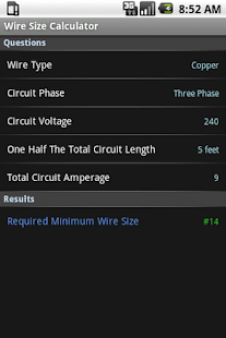 Wire size calculator android apps on google play wire size calculator screenshot thumbnail wire size calculator screenshot thumbnail greentooth Image collections