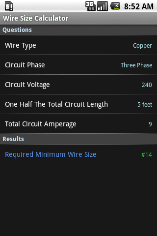 Wire size calculator android apps on google play wire size calculator screenshot greentooth Image collections