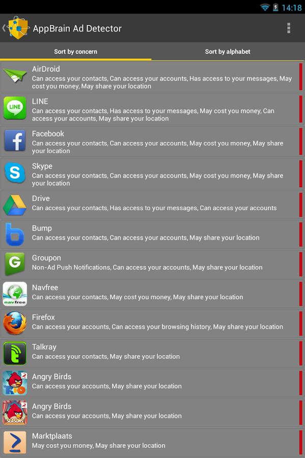 AppBrain Ad Detector- screenshot