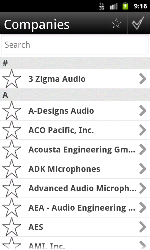 AES Mobile Convention - NY '13 - screenshot