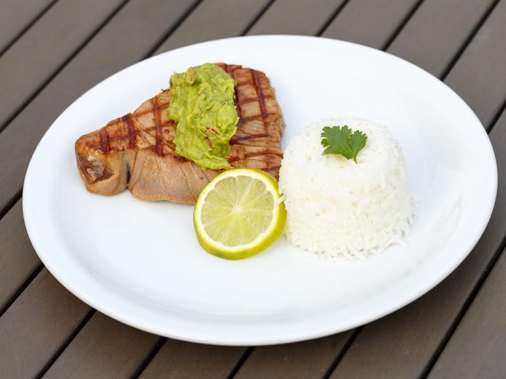 Tuna Steak with Avocado-Wasabi PuréE Recipe