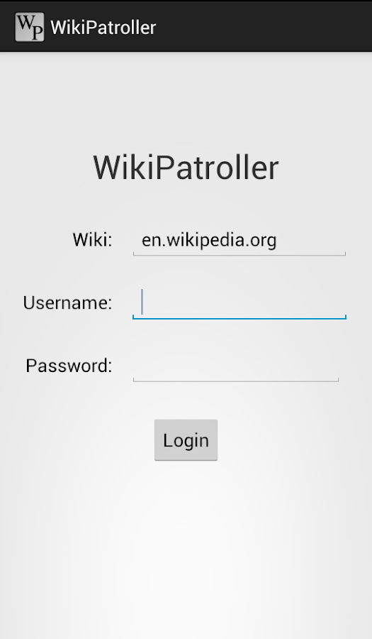 Wiki Patroller - screenshot
