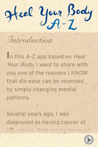 Heal Your Body A-Z -Louise Hay - screenshot