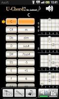 Screenshot of UChord2 (Ukulele Chord Finder)