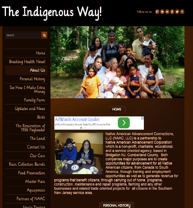 Indigenous of South New Jersey- screenshot