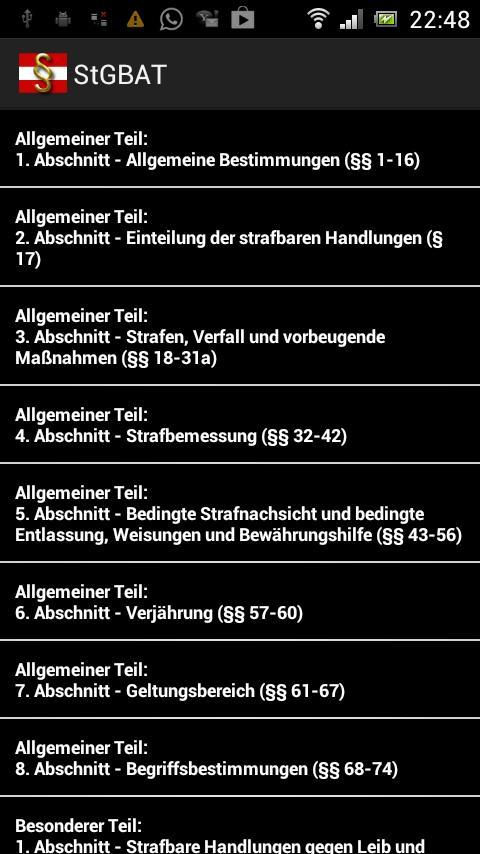 Strafgesetzbuch Österreich Pro- screenshot