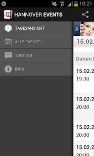 HANOVER EVENTS › Eventguide - screenshot thumbnail
