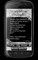 Screenshot of Générateur d'insultes