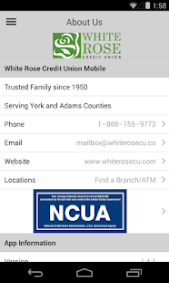 White Rose Credit Union Mobile - screenshot thumbnail