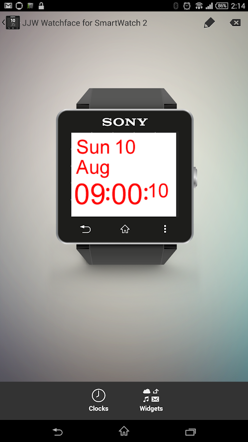 JJW Simplicity Watchface 1 SW2- screenshot