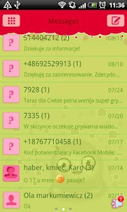 GO SMS Pro Green Mimi Theme - screenshot thumbnail