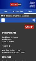 Screenshot of ORF Radio Niederösterreich