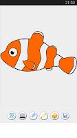 Screenshot of Fish Coloring Games