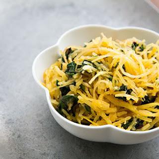 Spaghetti Squash and Chard Sauté.