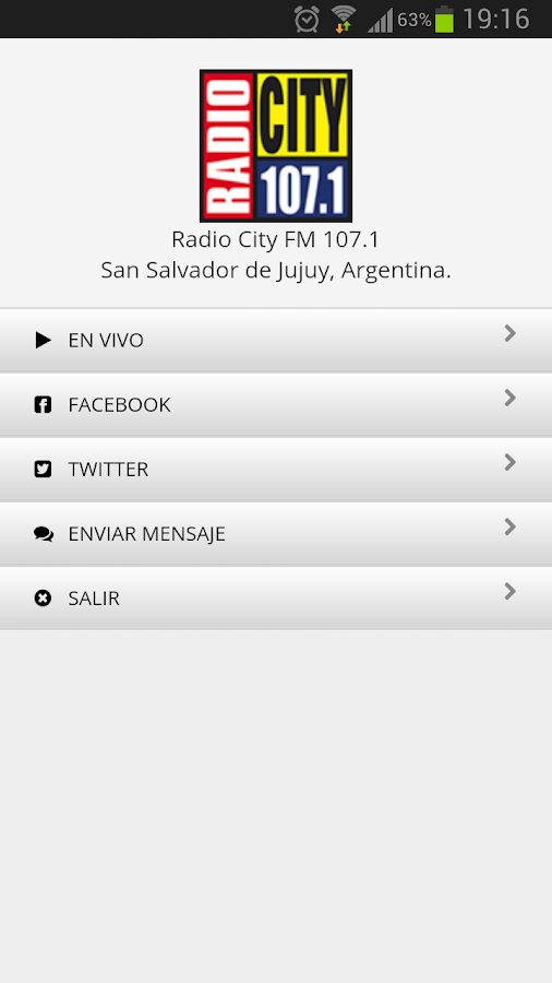 Radio City FM 107.1: captura de pantalla