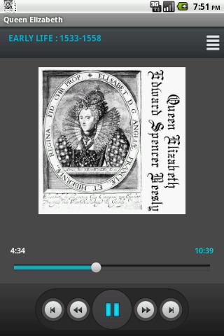 Audio book - Queen Elizabeth