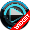 Poweramp widget BLACK L. Blue icon