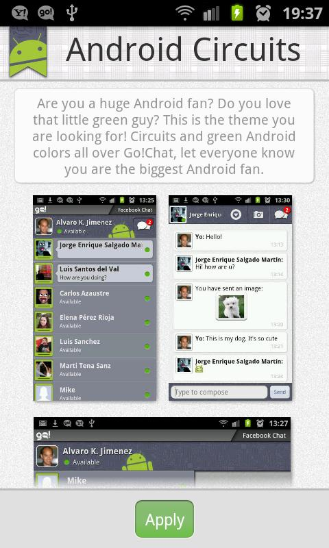 Go!Chat Themes Plugin - screenshot