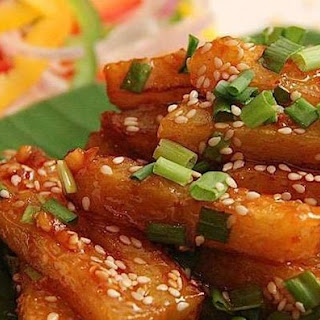 Honey Chili Potatoes.