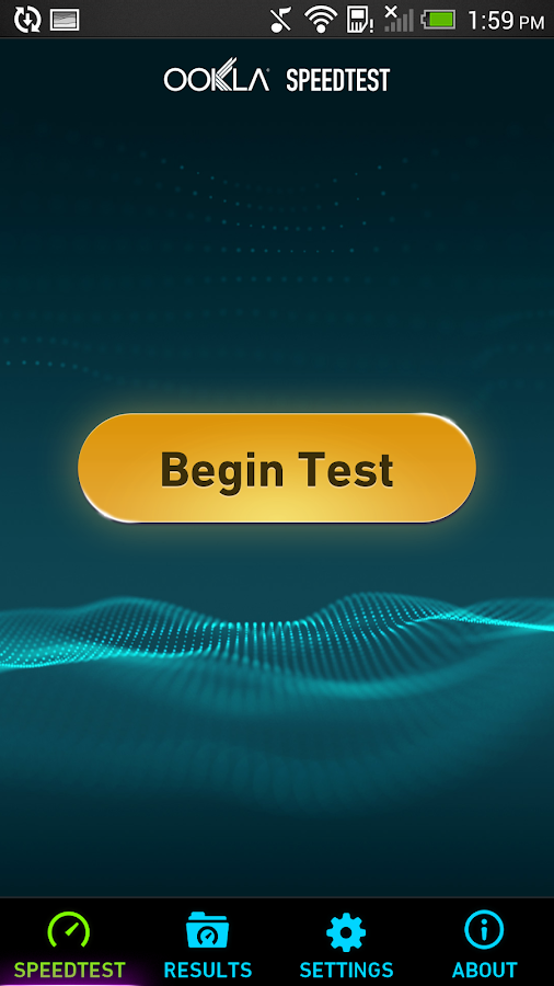 Speedtest.net: captura de pantalla