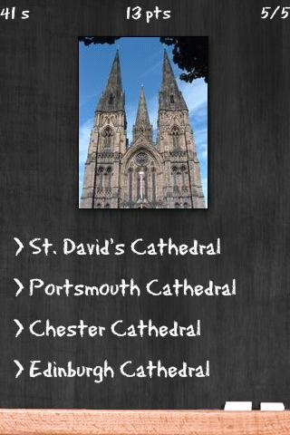 Cathedral Quiz- screenshot
