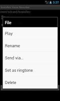 Screenshot of brainRec Voice Recorder