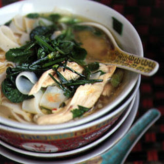 Hanoi Noodle Soup with Chicken, Baby Tatsoi, and Bok Choy Recipe