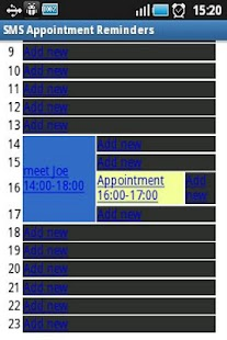 SMS Appointment Reminders - screenshot thumbnail