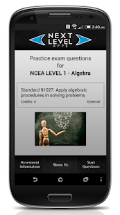 NCEA Algebra- screenshot thumbnail