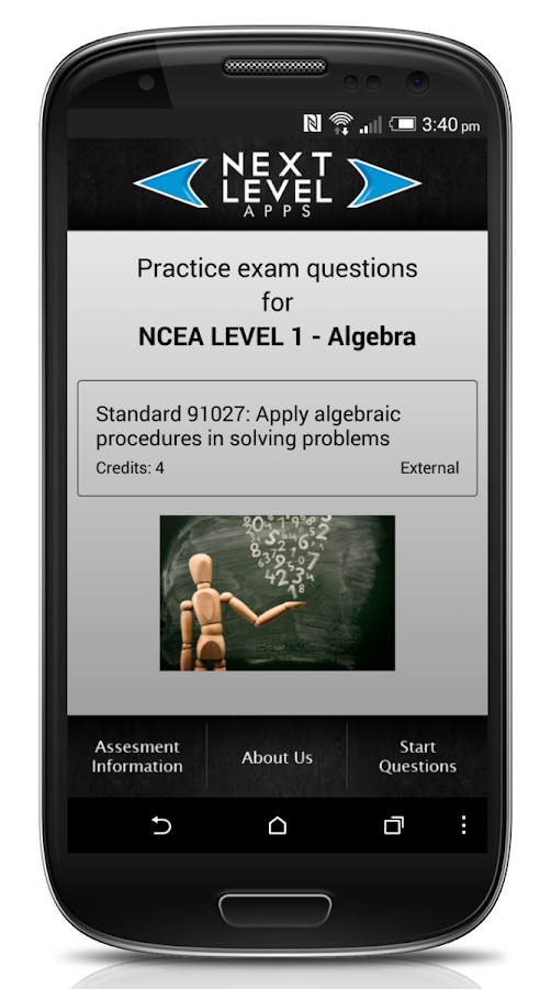 NCEA Algebra- screenshot