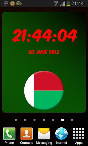 Madagascar Digital Clock