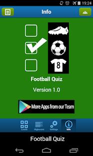Football Quiz - screenshot thumbnail