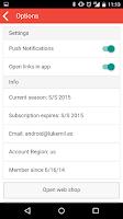 Screenshot of Restocks for F/W 2015