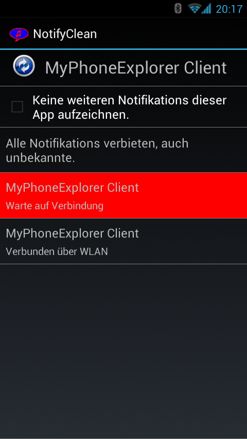 NotifyClean- screenshot
