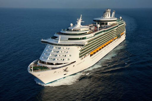 Navigator-of-the-Seas-at-sea - An aerial view of Royal Caribbean's Navigator of the Seas, which offers -night itineraries to the Western Caribbean.