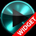 Poweramp widget TURQUOISE META icon
