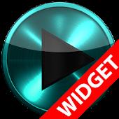 Poweramp widget TURQUOISE META