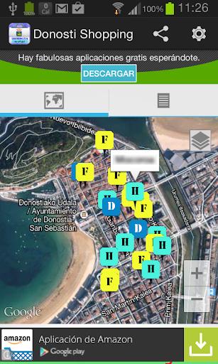 Donosti Shopping Guía con Mapa