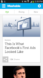 Mashable - screenshot thumbnail