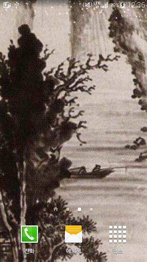 허섭묵산수화배경봄