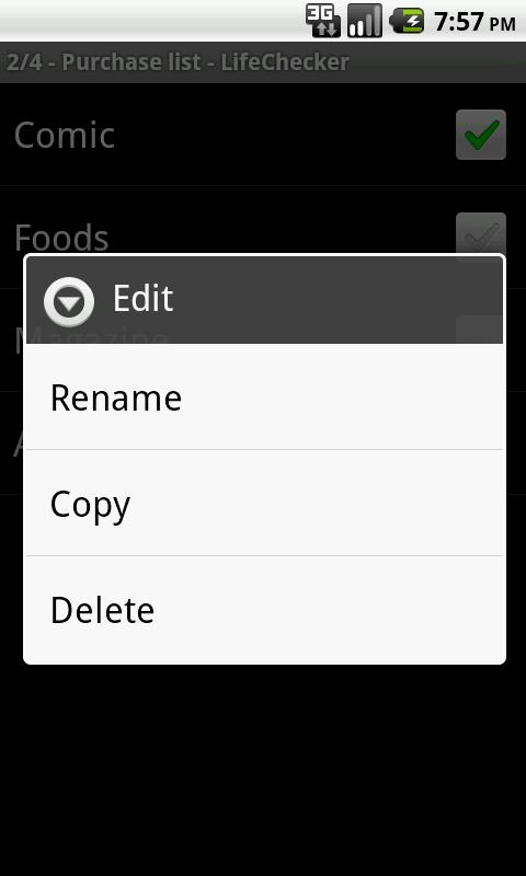 LifeChecker- screenshot