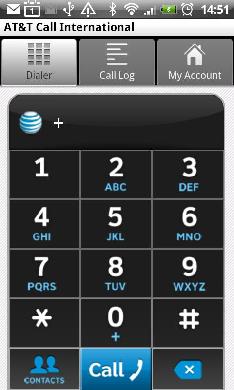 AT&T Call International - screenshot