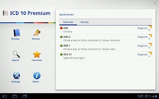 Screenshot of ICD 10 Lite 2012