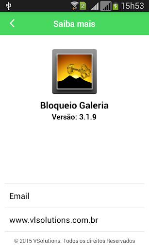 Galeria Bloqueio Gallery Lock