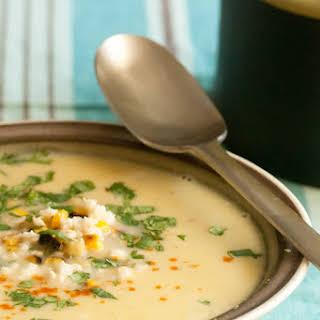 Fresh Mexican Corn Soup.