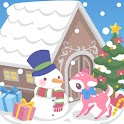 snow dream♪cute christmas logo