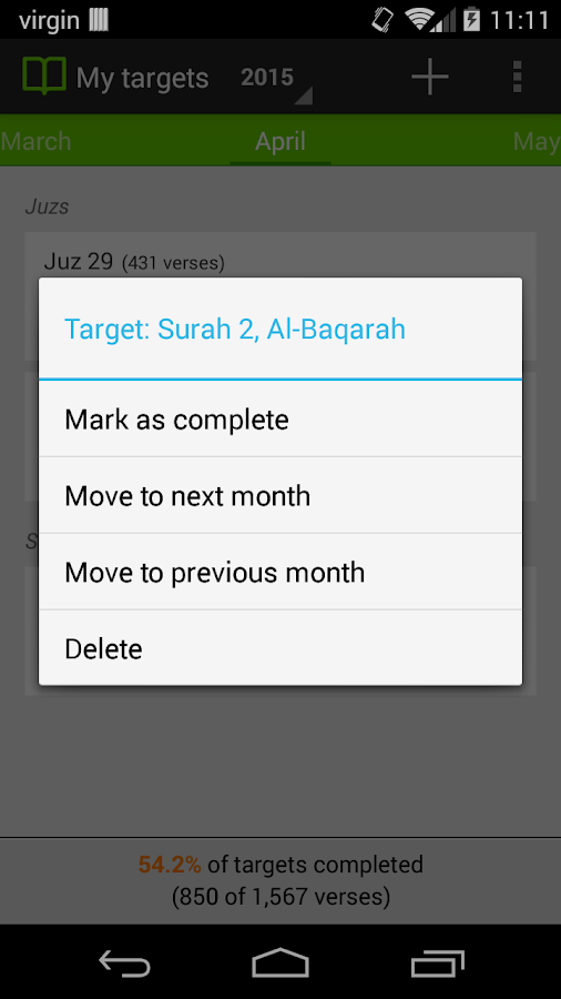 Qur'an Tracker - screenshot
