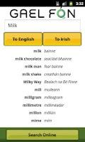 Screenshot of Gaelfon Irish Translator