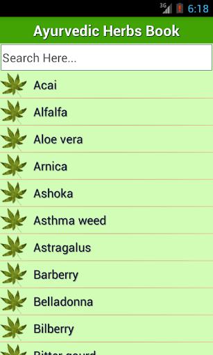 Ayurvedic Herbs✽ Medicine Book