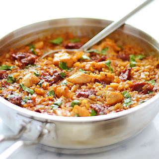 Orzo and Chicken with Sun-Dried Tomatoes.